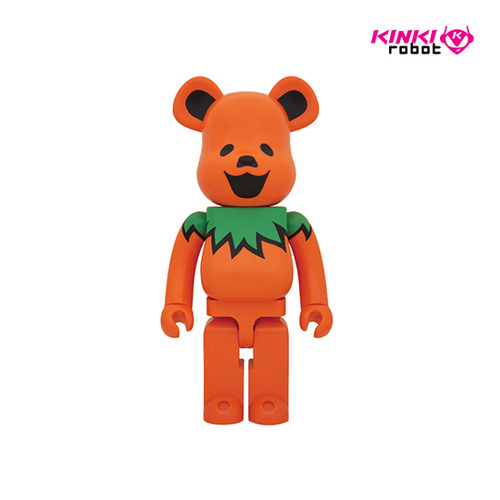 400%  BEARBRICK GRATEFUL DEAD DANCING BEARS-ORANGE
