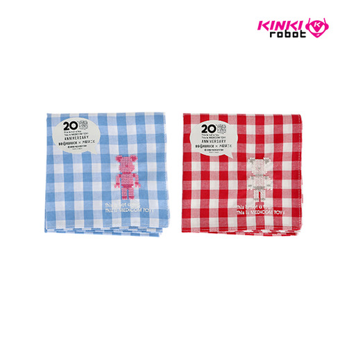BEARBRICK HANDKERCHIEF-BLUE / RED