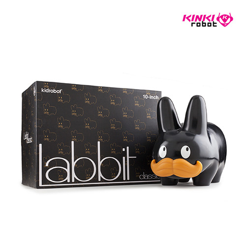 STACHE LABBIT BLACK 10""