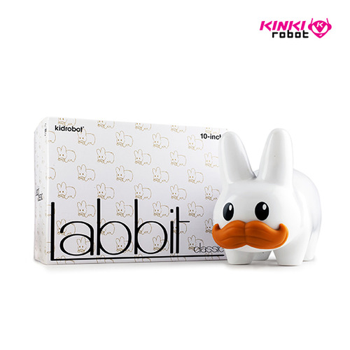 STACHE LABBIT WHITE 10""
