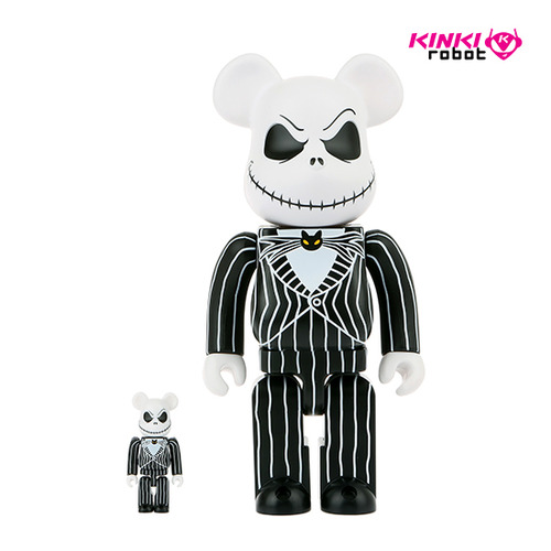 400%+100%BEARBRICK JACK SKELLINGTON