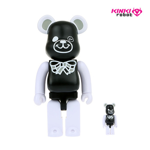 400%+100%BEARBRICK FREEMASONRY X FRAGMENTDESIGN BLACK