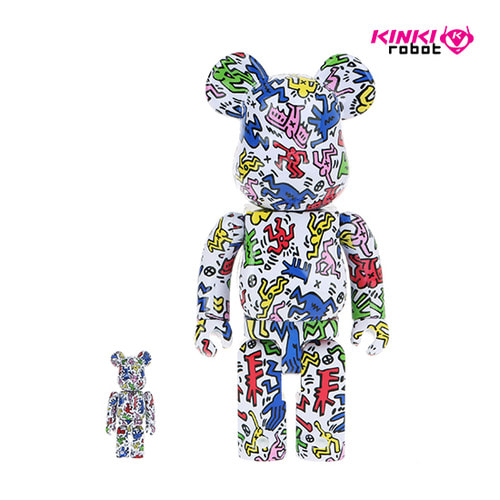 400%+100%BEARBRICK KEITH HARING