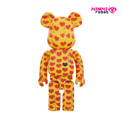 400%+100%,1000%BEARBRICK YELLOW HEART (프리오더)