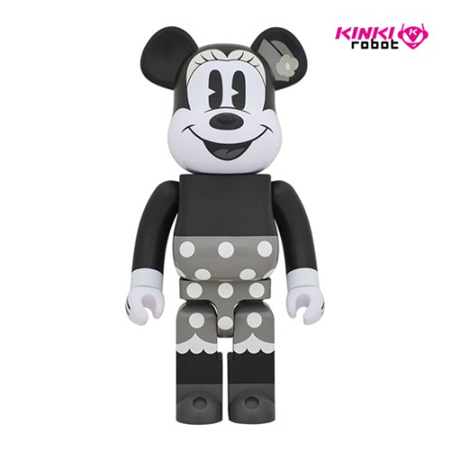 1000%BEARBRICK MINNIE MOUSE B&W