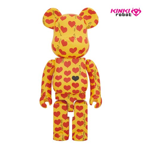 1000%BEARBRICK YELLOW HEART