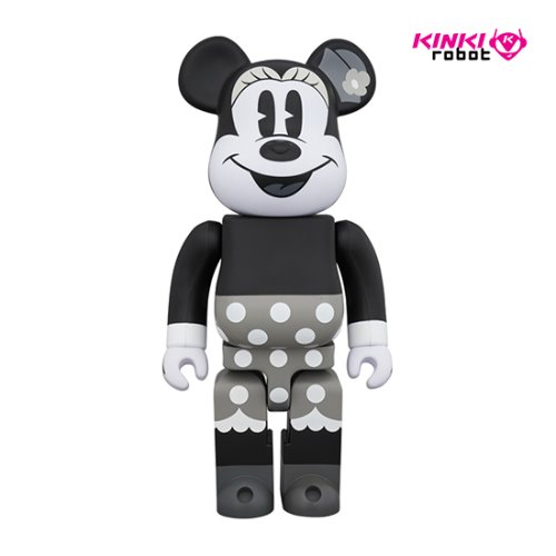 400%BEARBRICK MINNIE MOUSE B&W