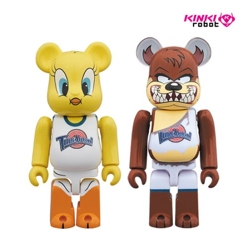 100%BEARBRICK TWEETY&TASMANIAN DEVIL 2PACK
