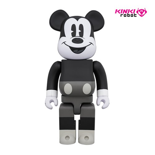400%BEARBRICK MICKEY MOUSE B&W