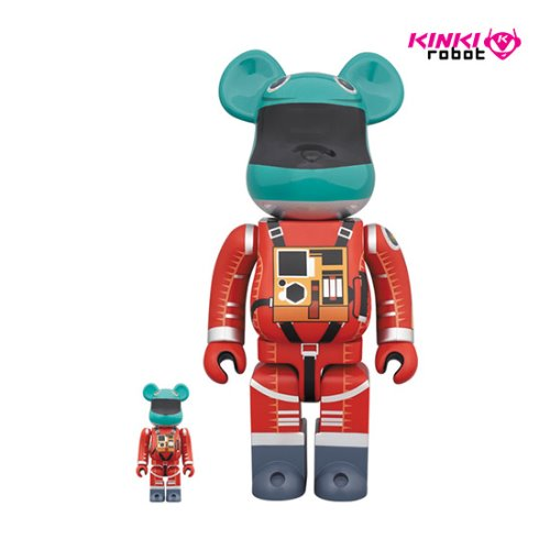 400%+100%BEARBRICK SPACE SUIT GREEN HELMET & ORANGE SUIT VER (프리오더)