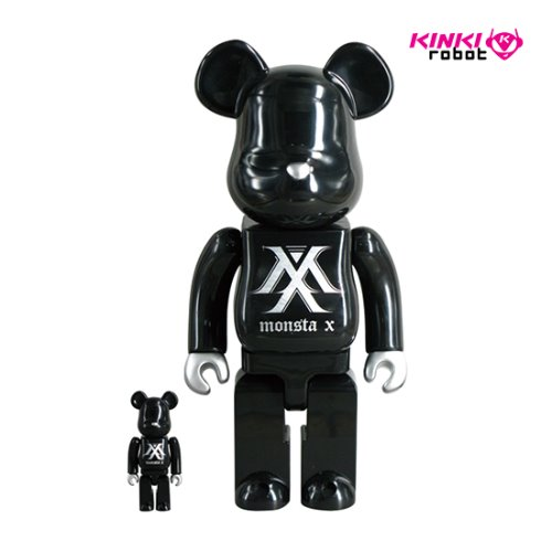 400%+100%BEARBRICK MONSTA X