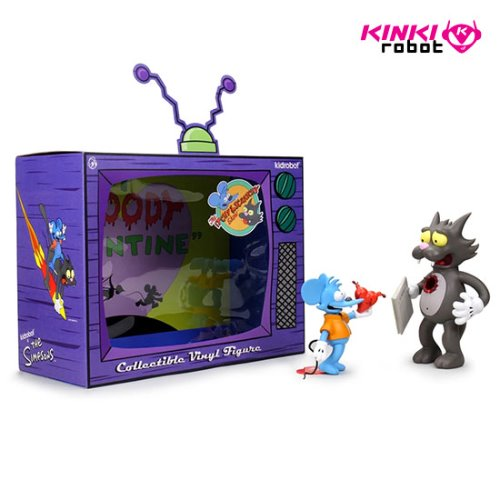 THE SIMPSONS ITCHY AND SCRATCHY MEDIUM FIGURE - ORIGINAL
