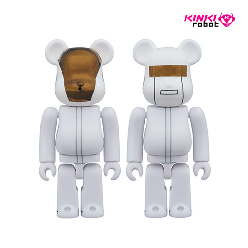 100% BEARBRICK DAFTPUNK WHITE SUITS VER SET