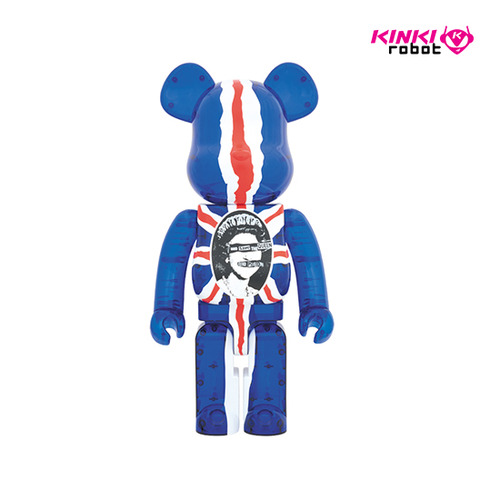 1000% BEARBRICK SEXPISTOLS GOD SAVE THE QUEEN CLEAR VER