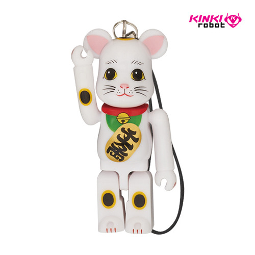 70%HAPPYBEARBRICK BECKONING CAT WHITE