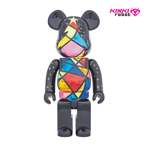 1000%BEARBRICK STAINED GLASS TREE