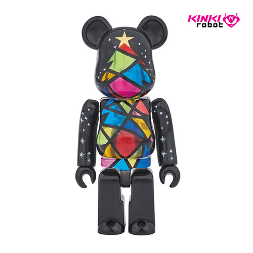 100% BEARBRICK STAINDE GLASS TREE