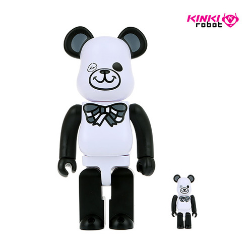 400%+100%BEARBRICK FREEMASONRY X FRAGMENTDESIGN  WHITE