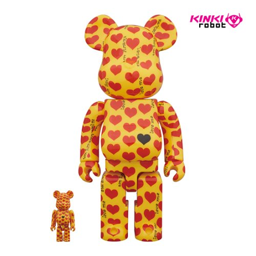 400%+100%BEARBRICK YELLOW HEART
