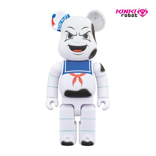 400%BEARBRICK STAY PUFT MARSHMALLOW MAN_ANGER FACE
