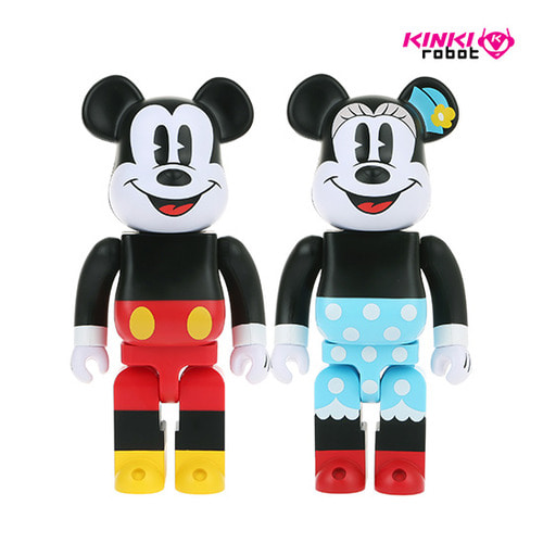 400%BEARBRICK MICKEY MOUSE, MINNIE MOUSE (SET)