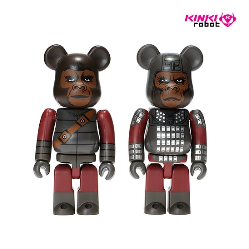 100%BEARBRICK GENERAL URSUS & SOLDIER APE 2PACK