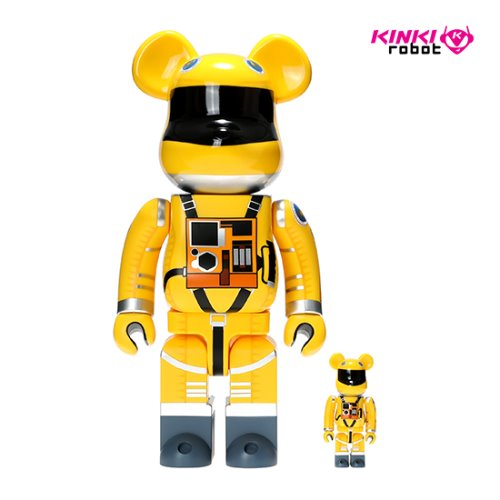 400%&100%BEARBRICK SPACE SUIT YELLOW VER SET