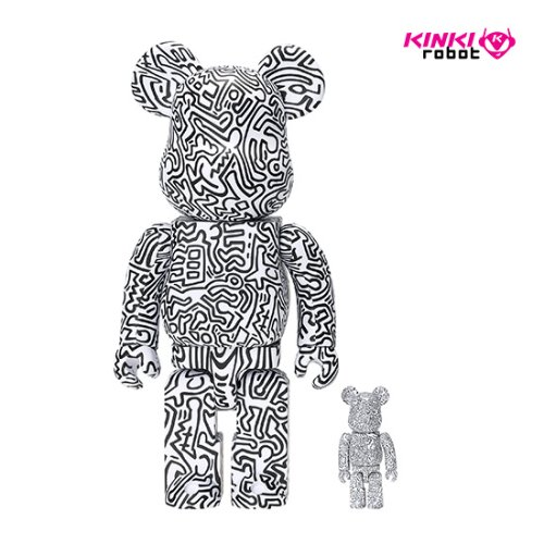 400%+100%BEARBRICK KEITH HARING #4